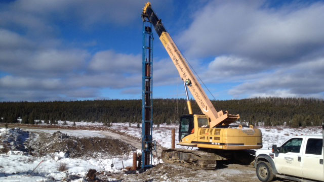 Driving Piles | Bridge Construction & Mat Rental - Great Northern Bridgeworks
