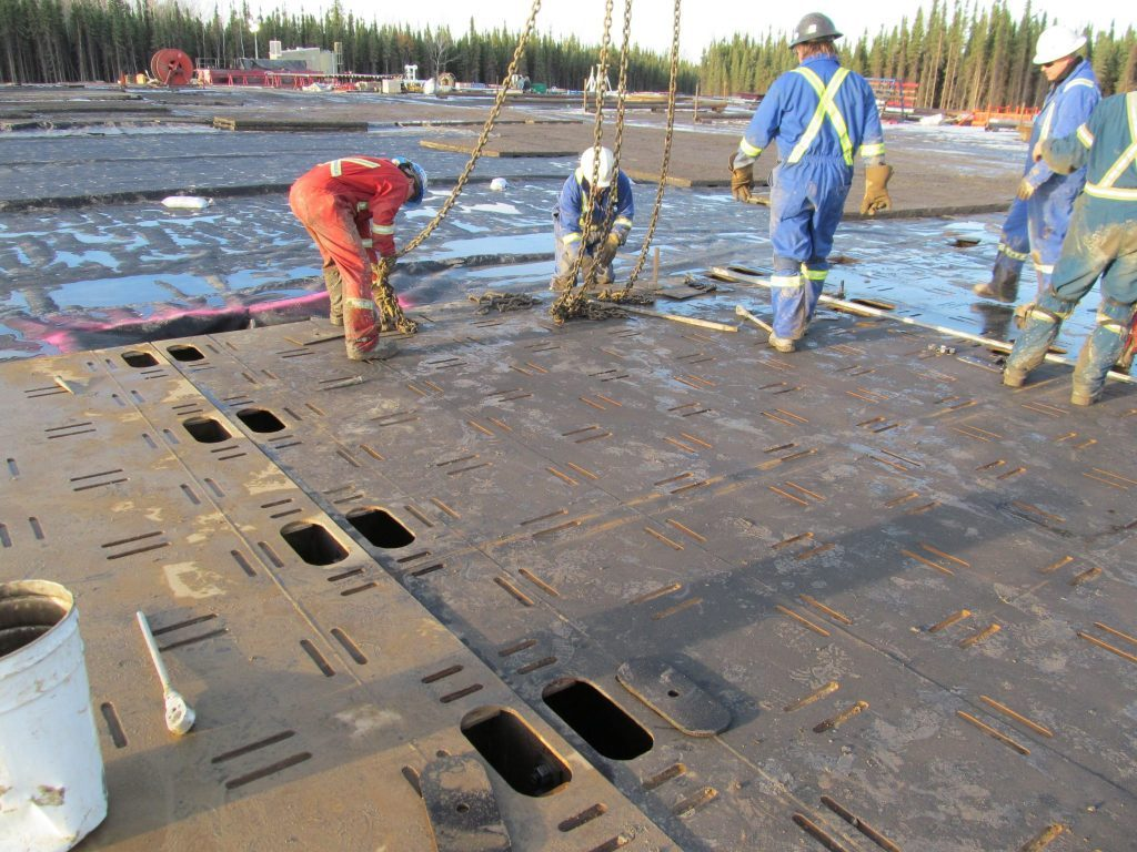 Rig Mats - BC Construction | Great Northern Bridgeworks