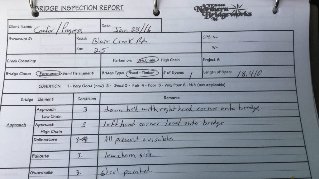 Bridge Inspection Document
